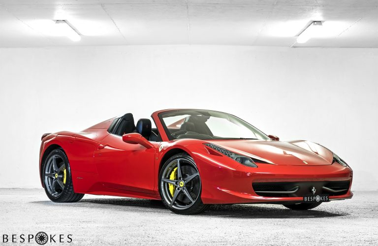 Ferrari 458 Spider for Hire