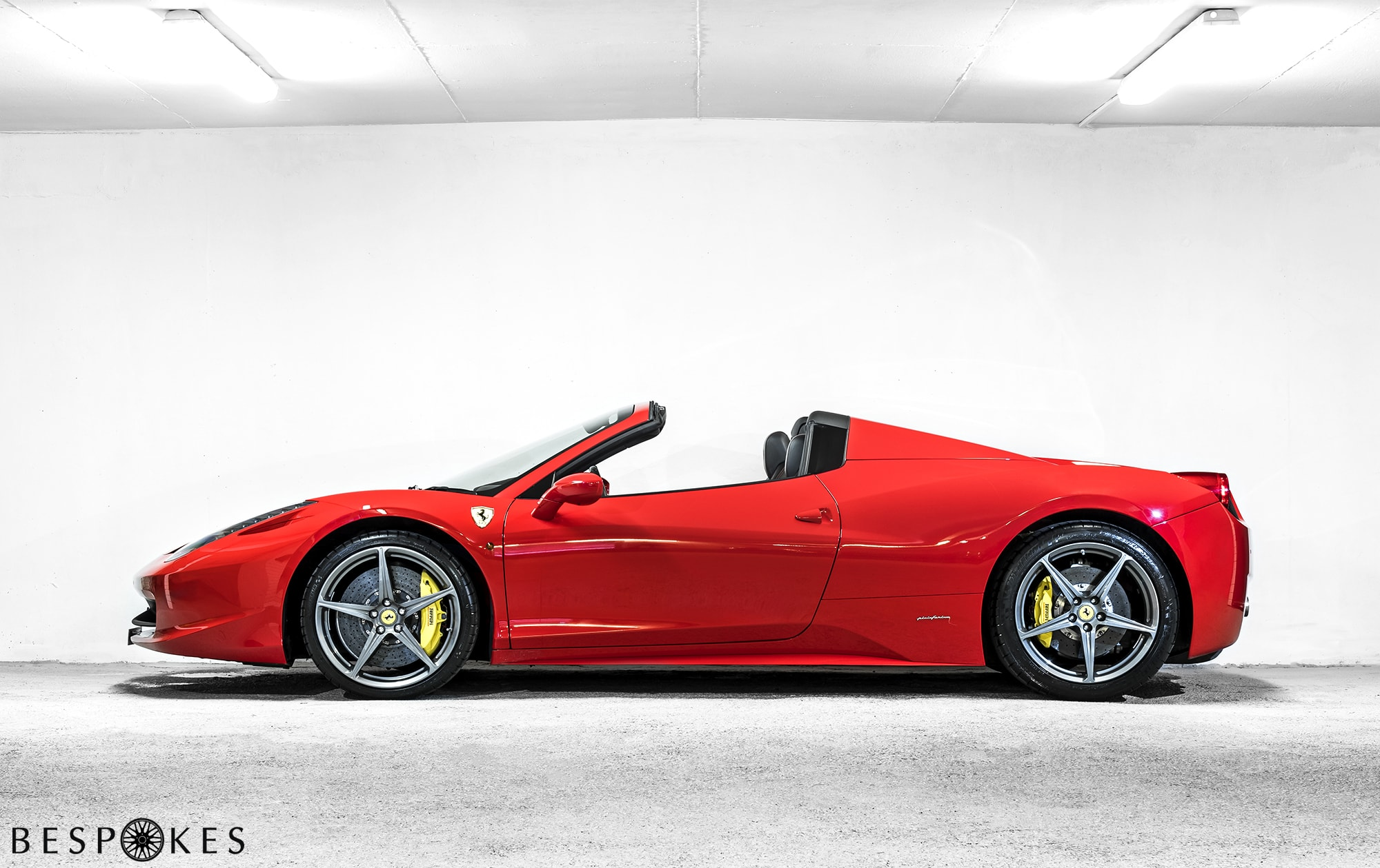Ferrari 458 Spider Hire Nationwide Delivery Bespokes