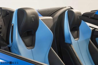 Lamborghini Huracan Blue Leather Seats
